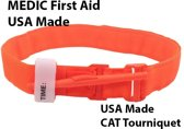 MEDIC First Aid CAT Tourniquet | Oranje | USA Made | Survival | Industrie | Buitensport | EHBO | First Aid Kit | Geschikt voor Huis, Auto, Camping, Boot, Op Reis, Sport
