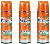 Gillette Fusion Gevoelige Huid - 3x200ml - Scheergel