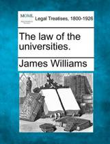 The Law of the Universities.