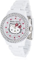 Hello Kitty  Nichinan White Stones - Horloge - 39 mm - Kunststof - Wit