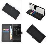 Sony Xperia XZs Zwart effen Wallet Bookcase Hoesje