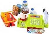 Electronische Speelgoed Kassa Met Met Licht & Geluid - Barcode Scanner Set - Supermarkt Winkel Kinderkassa Met Kassalade & Speelgeld