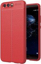 Let op type!! Voor Huawei P10 Litchi textuur TPU beschermende Back Cover Case (rood)