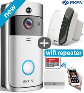 EKEN V5 deurbel met camera + JC's Wifi Repeater – NL Handleiding – Draadloze deurbel met camera – inclusief gong + 3 oplaadbare batterijen – Video deurbel