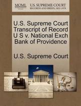 U.S. Supreme Court Transcript of Record U S V. National Exch Bank of Providence