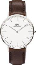 Daniel Wellington Classic Bristol DW00100023 - Horloge - Leer - Bruin - Ø 40mm