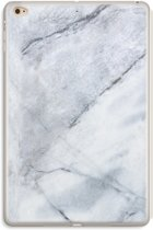 iPad Mini 4 Transparant Hoesje (Soft) - Witte marmer