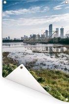 Uitzicht op Shenzhen Tuinposter 80x120 cm - Tuindoek / Buitencanvas / Schilderijen voor buiten (tuin decoratie)