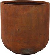 DBT - Bloempot - Plantenbak - Grote bloempot - Bloempot XXL - 50 x 51 - Bruin - Roest bruin - Kunststof - Cement