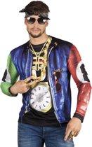 3 stuks: Fotorealistisch shirt - Rapper - Medium