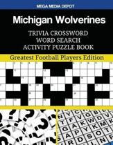 Michigan Wolverines Trivia Crossword Word Search Activity Puzzle Book