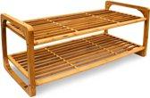 Schoenenrek bamboe hout - Houten schoenenplank ca 6 paar - Rek plank schoenen