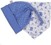 Blue Seven Baby Set Mutsje met Slab Wit Blauw - Maat 56