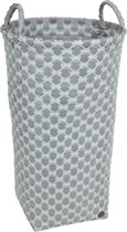 Handed By round laundry basket Dijon flint grey with greyish green
