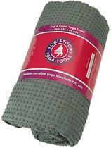 Yoga handdoek PVC antislip grijs 183x65 cm