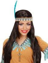 Indiaanse goudkleurige totem ketting voor volwassenen - Verkleedattribuut