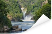 Murchison Falls stroomt in de rivier de Nijl Poster 60x40 cm - Foto print op Poster (wanddecoratie woonkamer / slaapkamer)