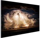 Stormachtige nacht over Byron Bay Aluminium 90x60 cm - Foto print op Aluminium (metaal wanddecoratie)