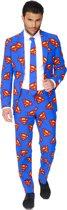 OppoSuits Superman™ - Mannen Kostuum - Blauw - Carnaval - Maat 62
