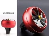 DrPhone Auto Aluminium Mini Ventilatiehouder Ventilator Luchtverfrisser Parfum in Auto - Air Conditioner met Draaiende Bladen – Air vent – Rood + Frisse luchtje