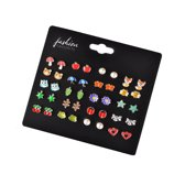 Fashion Favorite Stud Oorbellen | Multi | Bijoux | Set 20 Paar