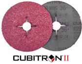 Cubitron 3M II Fiber schuurschijf 982C K80 125x22mm 25 stuks