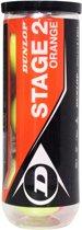 Dunlop Stage 2 tennisballen 3-tin oranje/geel