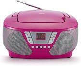 Bigben CD60RSSTICK - Draagbare Radio met 400 Stickers - Roze