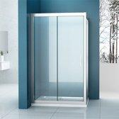 Douchecabine Traya Rechthoek Schuifdeur 90x120x200cm Antikalk Helder Glas Chroom Profiel 8mm Veiligheidsglas Easy Clean