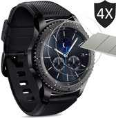 Samsung Gear S3 Frontier Screenprotector - Tempered Glass Gehard Glas - Case Friendly - iCall - 4 Stuks