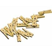 20x mini knijpertjes goud - 2 cm - kleine/ mini knijpers