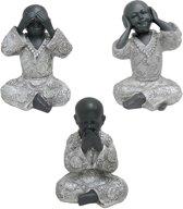 Boeddha monniken set (hoogte 15 cm)