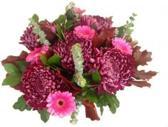 Herfst boeket met paarse bloemen
