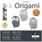 Fridolin Origami Uil Vouwen 15 X 15 Cm 20 Stuks Multicolor