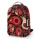 Laptop rugzak 15,6 Deluxe rood patronen design - Sleevy - schooltas