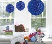 Decoratie bol blauw 50 cm