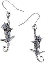 bungelende kat Oorbellen | katten oorbellen kopen