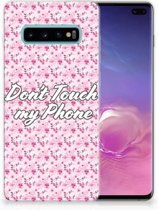 Samsung Galaxy S10 Plus Uniek TPU Hoesje Flowers Pink DTMP