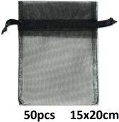 Cadeauzakjes - Gift Bag - 50 stuks - 15x20 cm - Zwart - Dielay