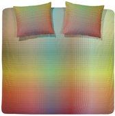 Damai Rainbow Dekbedovertrek - lits-jumeaux - 240 x 200/220 - Limoen groen
