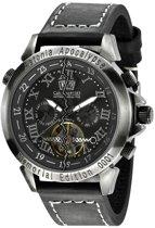 Calvaneo 1583 Astonia Apocalypse - Horloge - Leer - Zwart - 44 mm