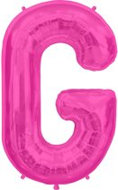 Letter G Magenta lucht 41cm