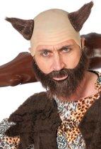 Glatze en baard bruin