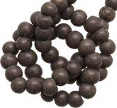 Glaskralen Stonewash (4 mm) Brown (110 Stuks)