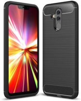 Huawei Mate 20 Lite hoesje - Rugged TPU Case - zwart