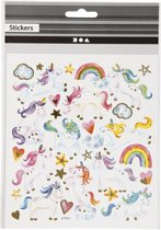 Stickervel eenhoorn 15 x 16,5 cm - Stickers