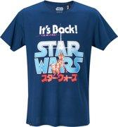 Star-Wars-T-shirt-met-korte-mouw-blauw - Maat M