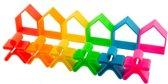 Dëna bijt speelgoed en grijpspeelgoed - kindjes en huisjes - neon