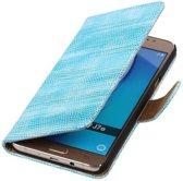 Hagedis Bookstyle Hoesje voor Samsung Galaxy J7 (2016) Turquoise