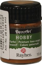 Hobby acrylverf bruin 15 ml